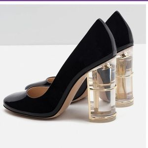 Zara   Patent Leather Court Shoes